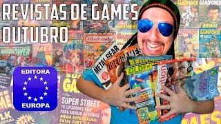 Revistas de Games - Outubro (PlayStation, Xbox, Old Gamer,...) Editora Europa