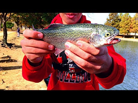 Rainbow TROUT In Texas?!?- Catch And Cook