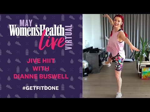 Dianne Buswell Jive HIIT At-Home Workout | Women's Health Live Virtual