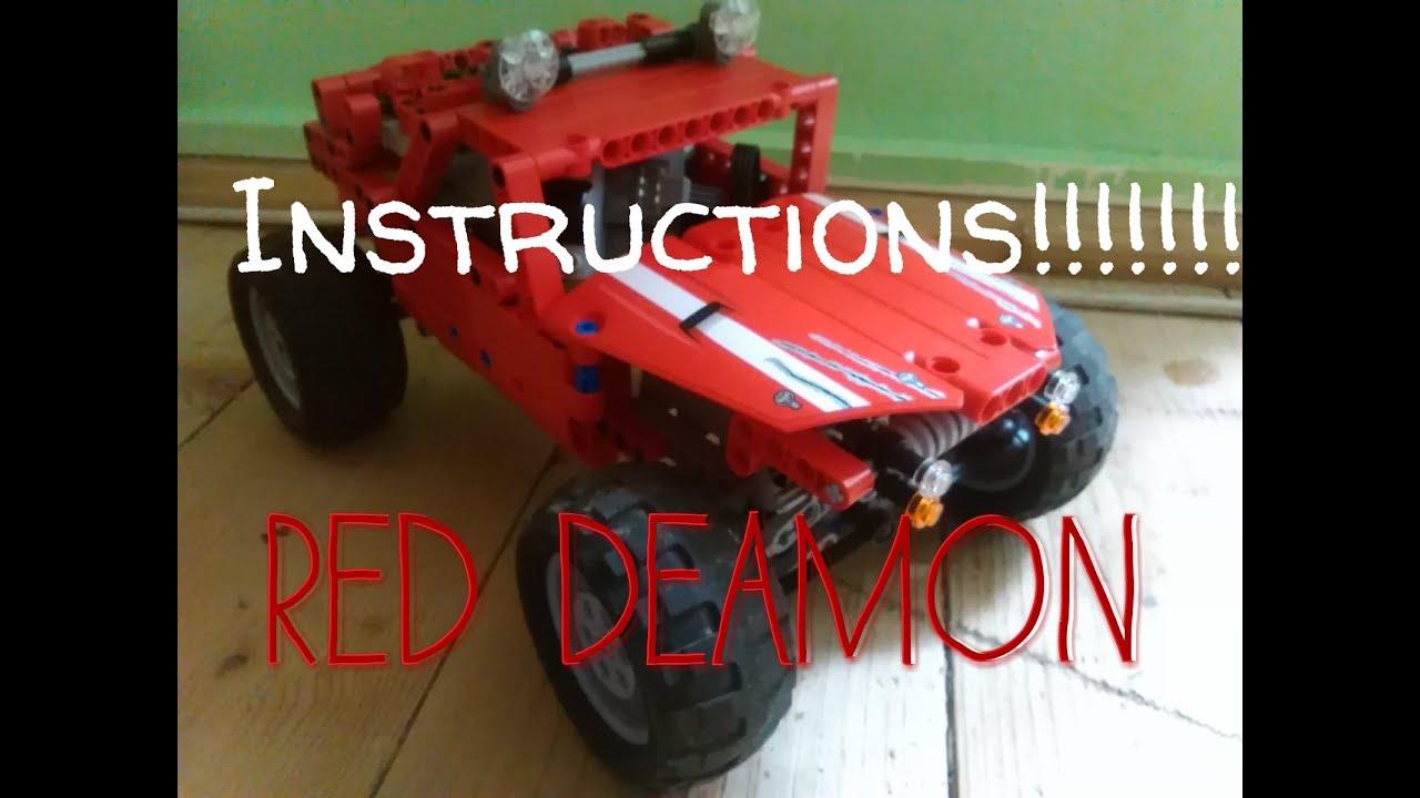 Lego Technic The Red Deamon Lego Moc Instructions Youtube