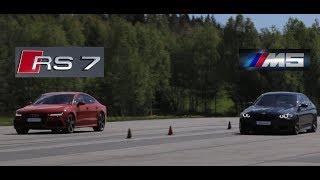 acceleration Audi RS6 i BMB M5