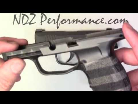 Sig P365 Grip Module Cerakote and Stippled option by NDZ