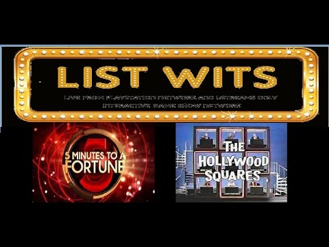 List Wits Game Show (12/22/15) w/Prizes! (Hollywood Squares)