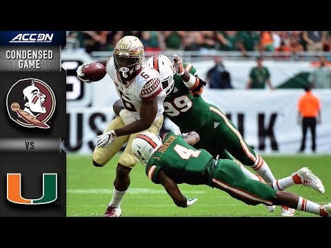 Florida State Vs. Miami Condensed Game   2018 ACC Football