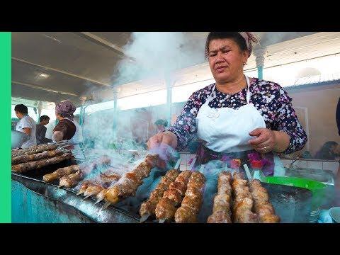 Death by Meat! Street Food in Tashkent, Uzbekistan!