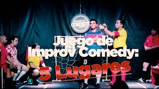 Juego de Improv Comedy: 5 lugares