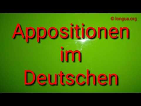 Deutsch lernen - Learn German: A1, A2, B1, B2, C1: Apposition im Deutschen - longua.org