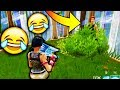 FUNNIEST BUSH CAMPER EVER!!!! (Fortnite Battle Royale Gameplay)
