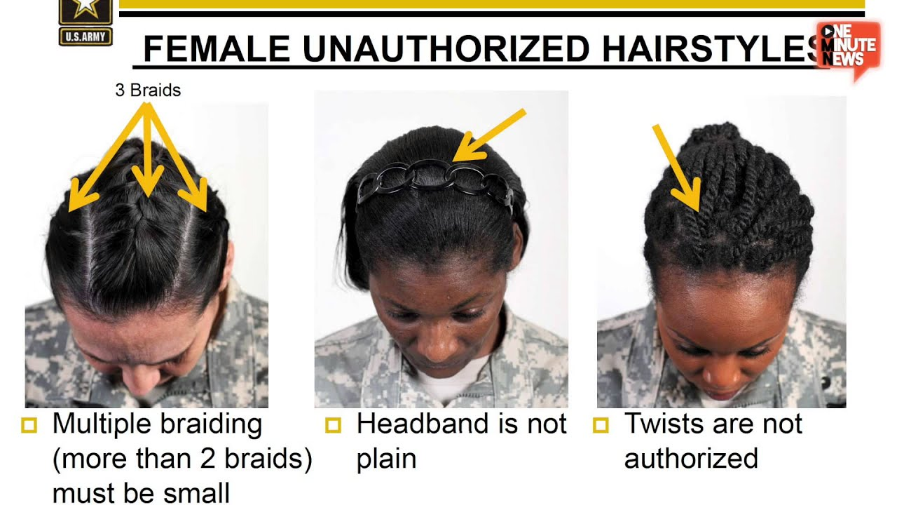 Female Sol rs Declare Army s New Hair Regulation Racially Biased