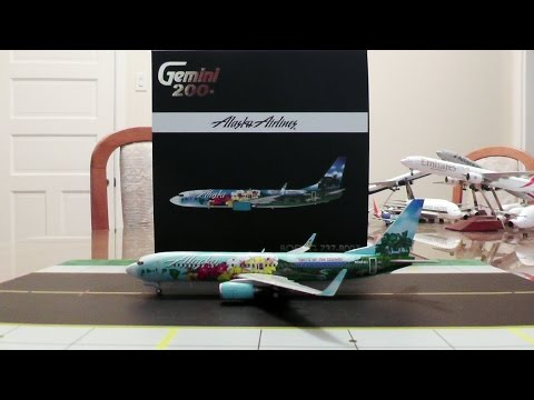 Gemini Jets 1:200 Alaska Airlines 737-800WL 'Spirit Of The Islands' Unboxing and Review