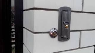 видео установка домофона