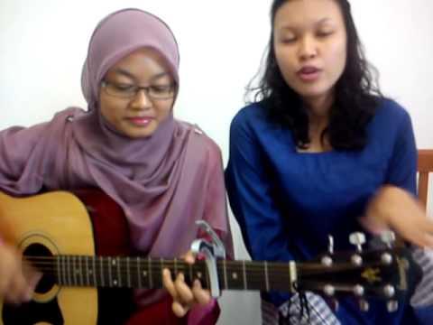 Ku Menunggu - Rossa (cover by fatin & nazilah)