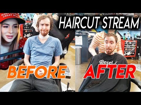 Asmongold Gets a Haircut | IRL Stream ft. Pink Sparkles