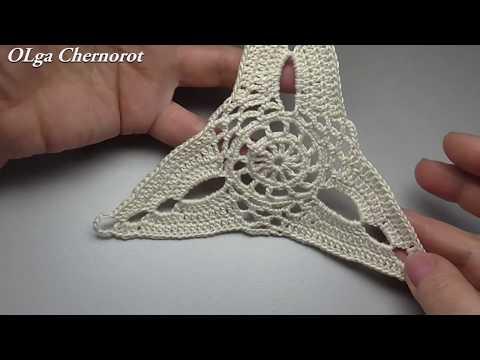 Схемы вязание треугольников крючком