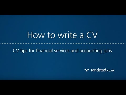 How to write a CV: CV tips for financial services and accounting jobs