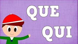 slabas que qui syllable with q aprender a leer