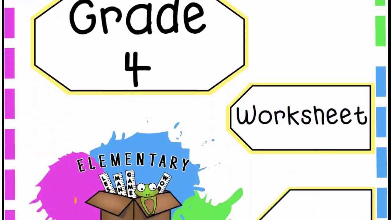 Classifying Two Dimensional Shapes Worksheet - Grade 4 Geometry (4.G.2) -  YouTube [ 720 x 1280 Pixel ]