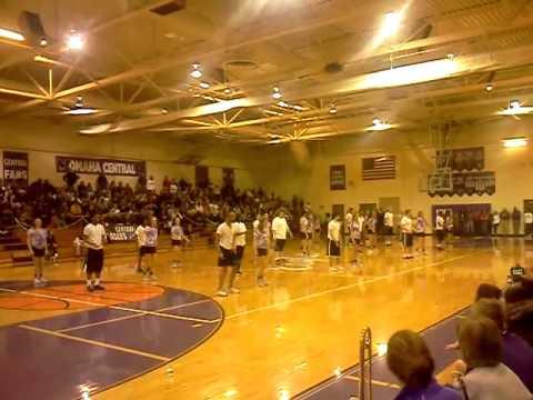 Omaha Central High School's Girls and Senior Boys Pom Squad Half Time Show