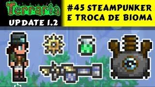 NPC Steampunker, Asfalto e Clentaminator - Terraria 1.2 #45 PT BR