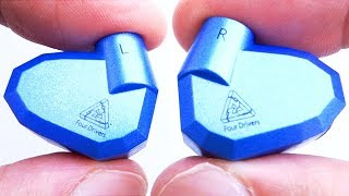 KZ ZS5 hybridní HiFi sluchátka do uší se čtyřmi měniči rozbalení