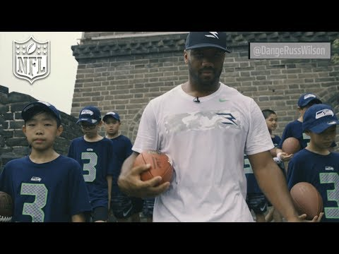 Russell Wilson Runs the Great Wall of China | NFL