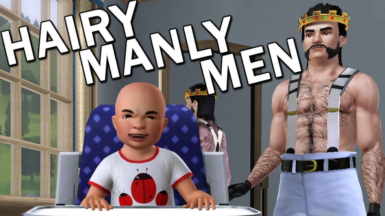 The Sims 3 Hairy Manly Men Youtube