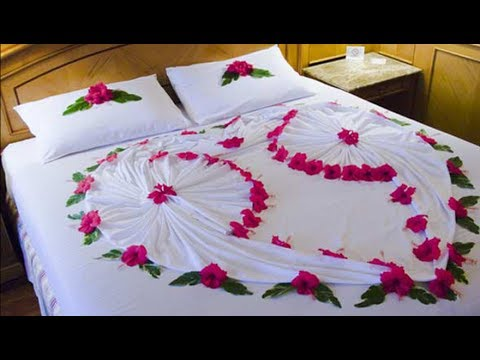 20 Most Romantic Wedding 1st Night Bed Decoration Ideas 2017