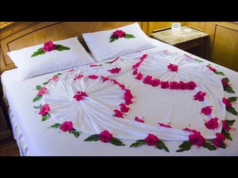 20 Most Romantic Wedding 1st Night Bed Decoration Ideas
