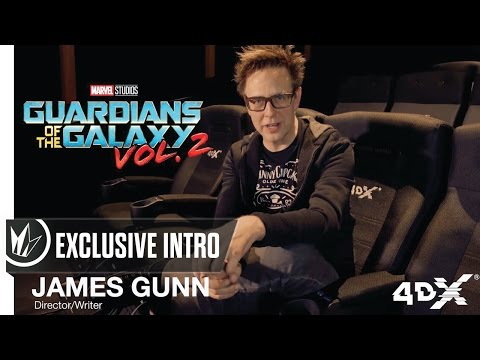 James Gunn 4DX Exclusive Intro Guardians of the Galaxy Vol. 2 -- Regal Cinemas [HD]