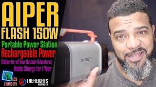#Aiper Flash 150W Portable Power Station 🔋 + 🔌 : #LGTV Review