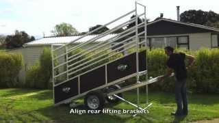 Kiwi Cattle Yards Portable Loading Ramp