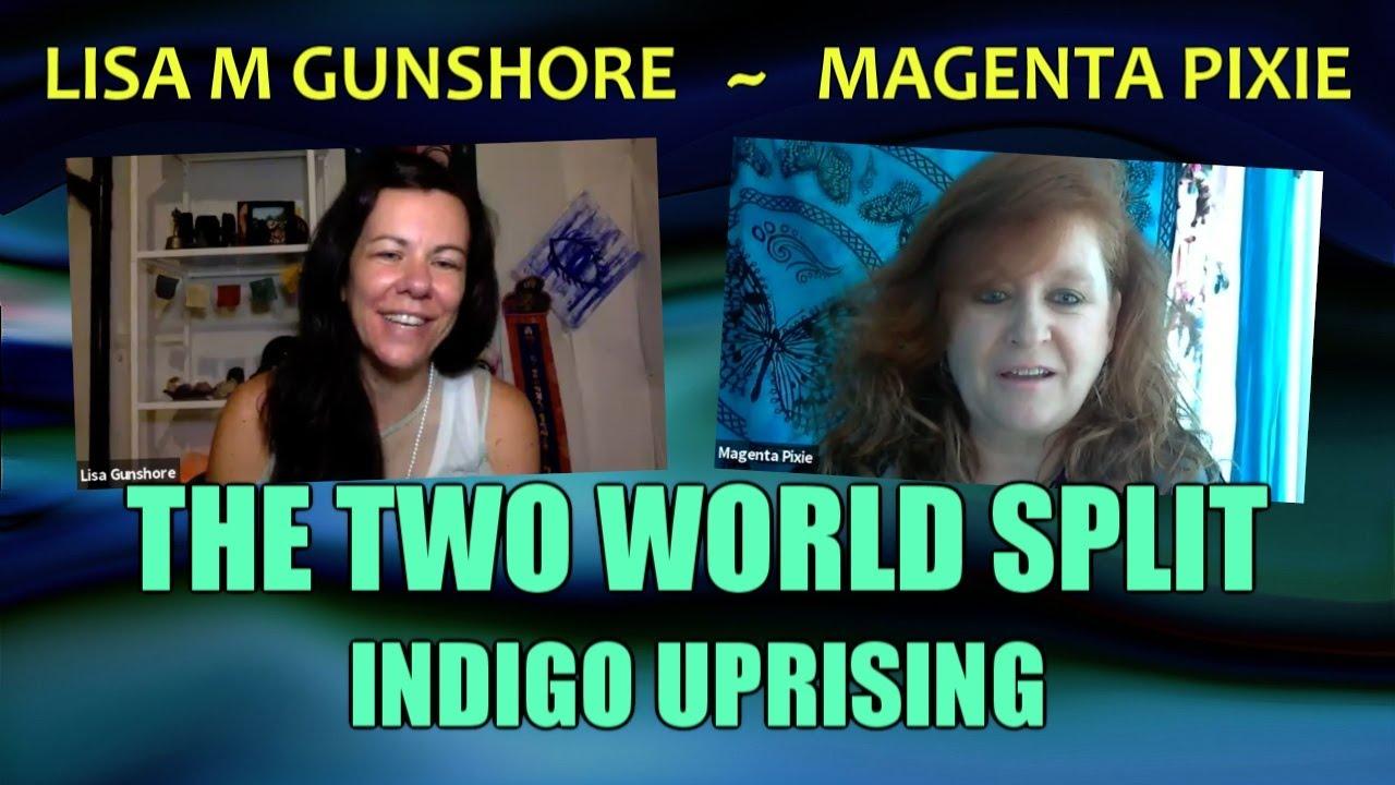 The Two World Split (Indigo Uprising) ~ Lisa M Gunshore and Magenta Pixie