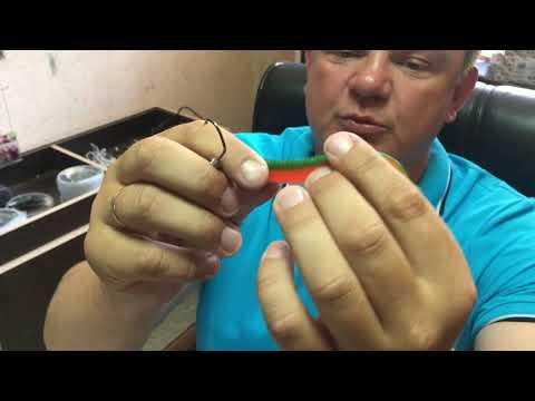 Как правильно подобрать джиг-головку к силиконовой приманке. Как надеть резину на джиг головку
