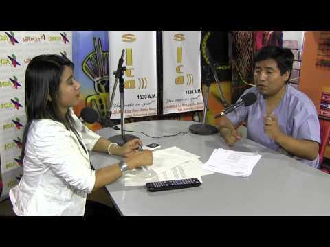 Dr. Eloy Vivanco Contreras; Médico Radiólogo Hri, informando sobre beneficios de tomografías