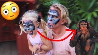 MONKEYS ESCAPE FROM ZOO PRANK!!! (Funniest reactions)