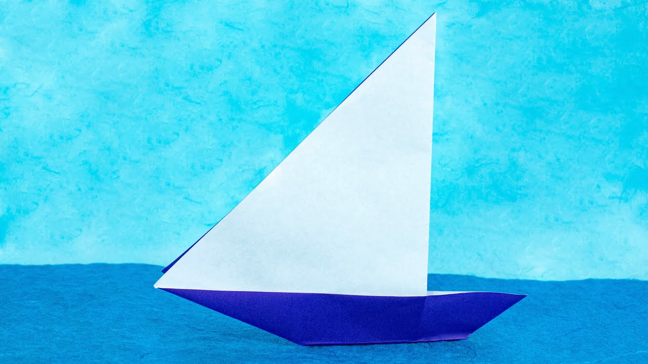 origami sailboat yacht tutorial traditional youtube