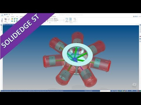 7 Cylinder Radial Engine - SolidEdge ST 10 Training - Assembly