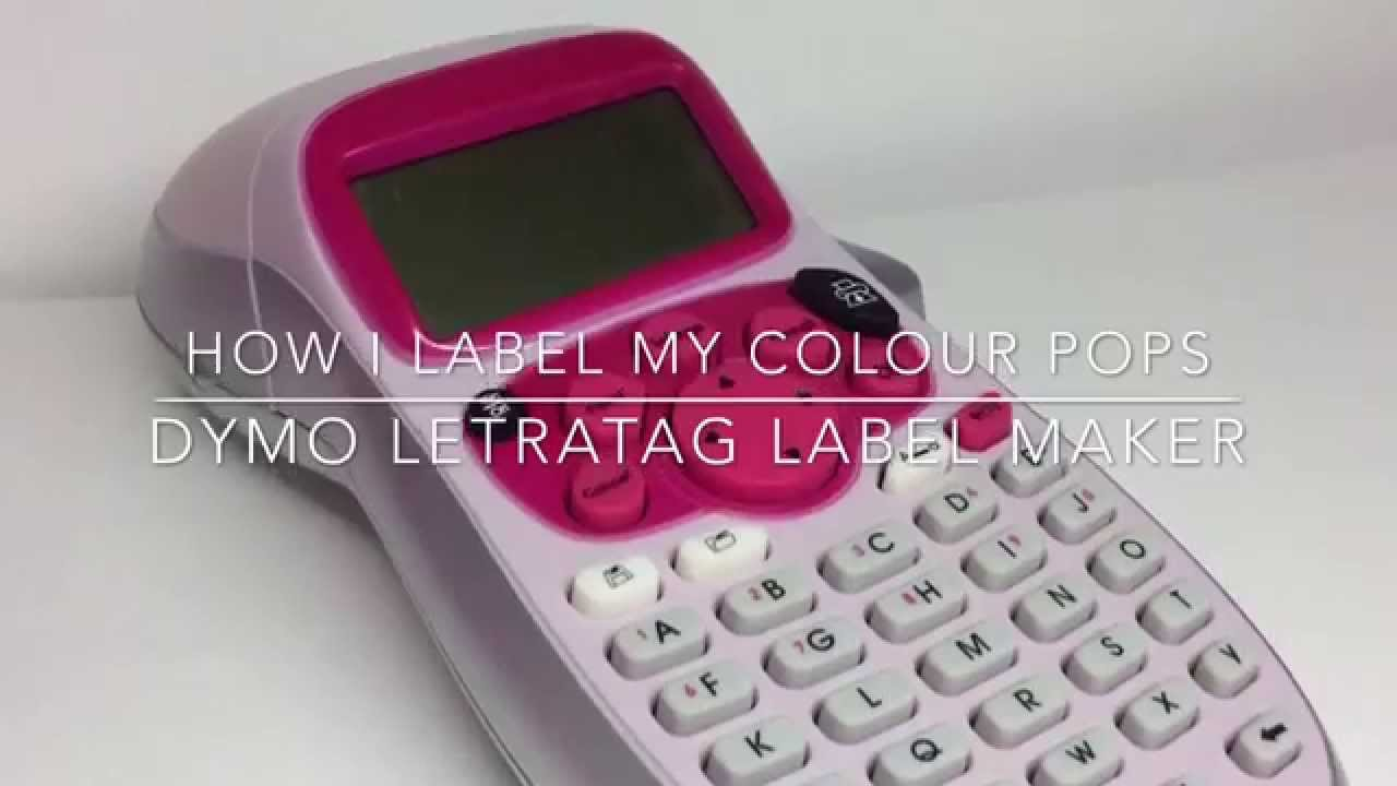 How I label my Colour Pops *REQUESTED* | How To: Dymo Letratag LT-100H