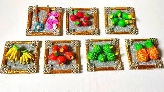 Mini Fruits Making   diy   Clay Fruits Making   School Competition Craft   By Punekar Sneha
