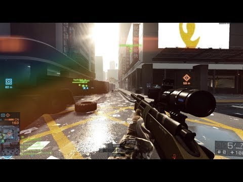 Battlefield 4 Beta - How to Snipe in Battlefield 4 Multiplayer (BF4 Sniper Gameplay)