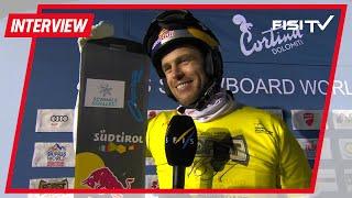 Roland Fischnaller dopo il trionfo a Cortina