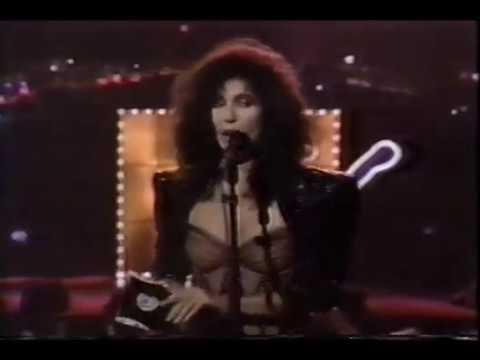 Cher Presents The Viewer's Choice Award At The 1987 MTV Video Music Awards (1987 VMA's)