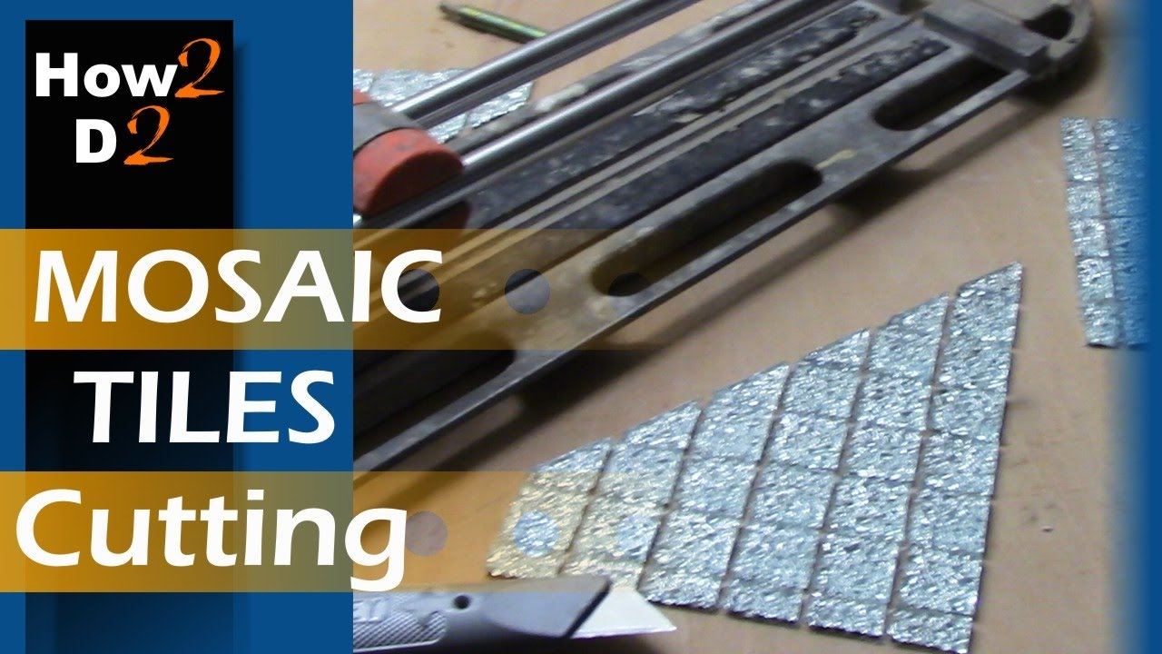 Mosaic Tiles Cutting How To Cut Tile Straight Diamond Dry