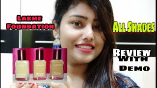 Lakme Perfecting Foundation |All Shades Review & Swatches With Demo |Cheap# Marble,Shell,Pearl,Coral