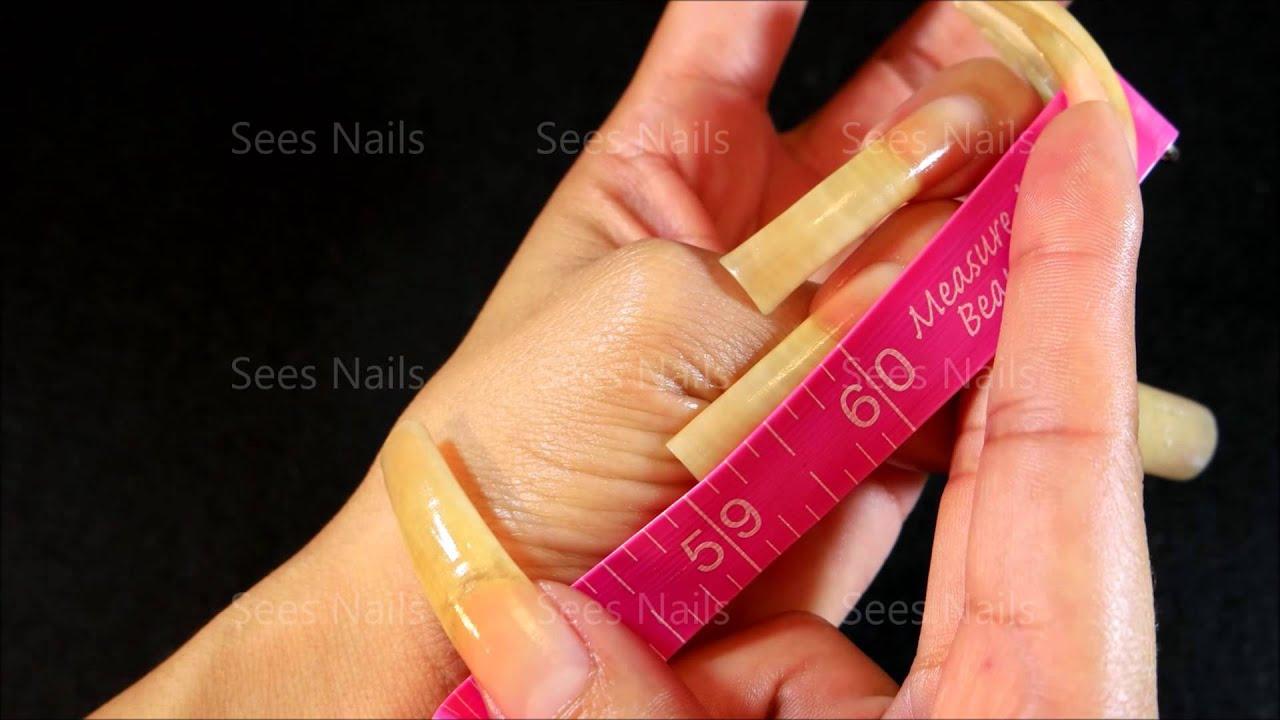 BARE Long Natural Nails   Weekly Length Check - YouTube