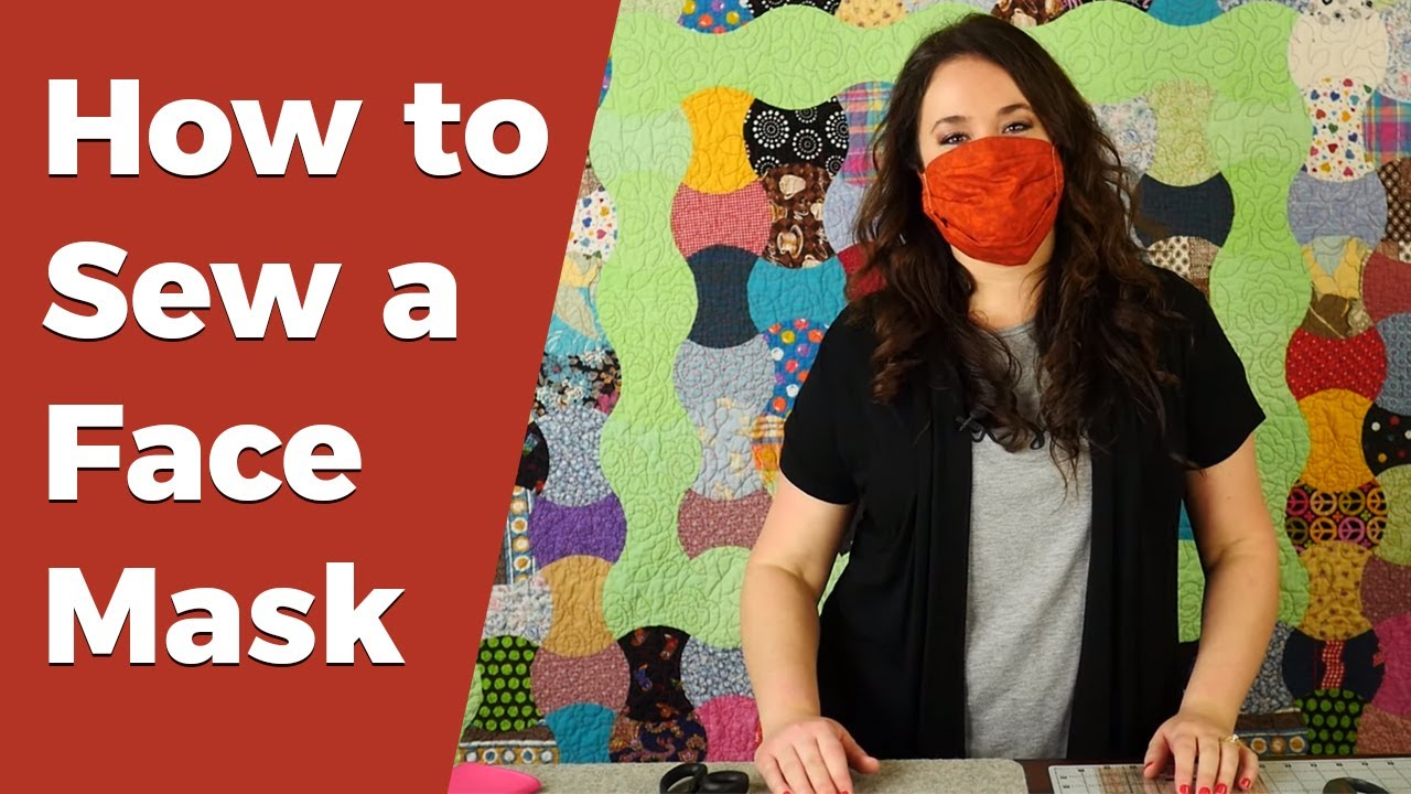 How to Sew a Pleated Fabric Face Mask with Step by Step Instructions