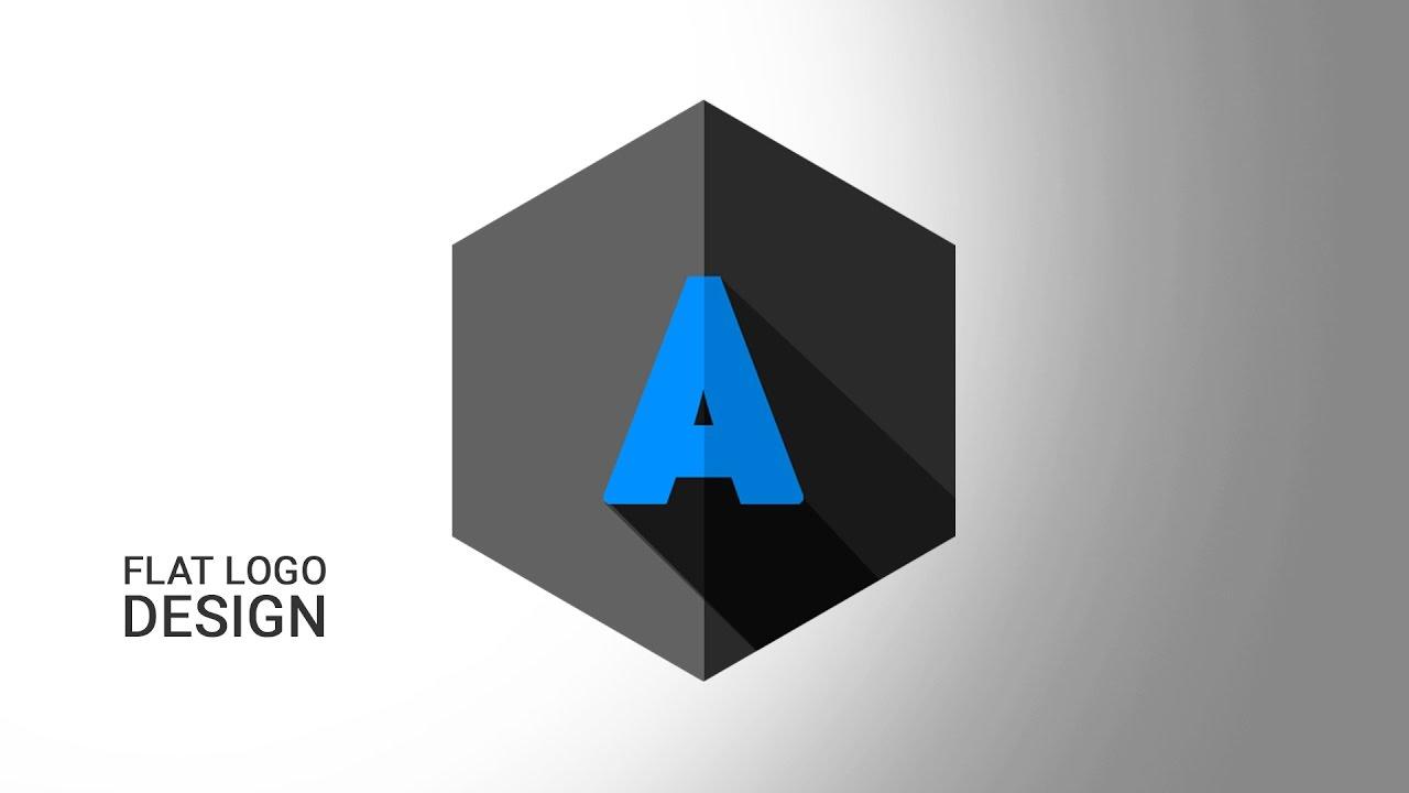 How to Create logo Flat Shadow in Photoshop CS6 | Logo Design ...