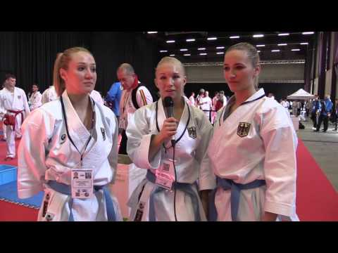 Interview GERMANY female kata team. Finalist 2016 European Karate Championships
