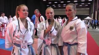 Interview GERMANY female kata team. Finalist 2016 European Karate Championships