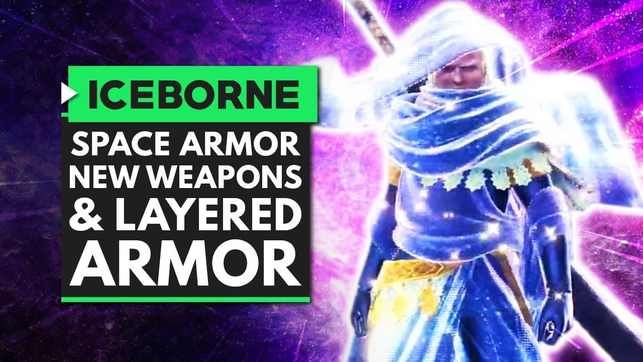Monster Hunter World Iceborne | Space Armor, New Weapons, Snow Fights & More Layered Armor! thumbnail